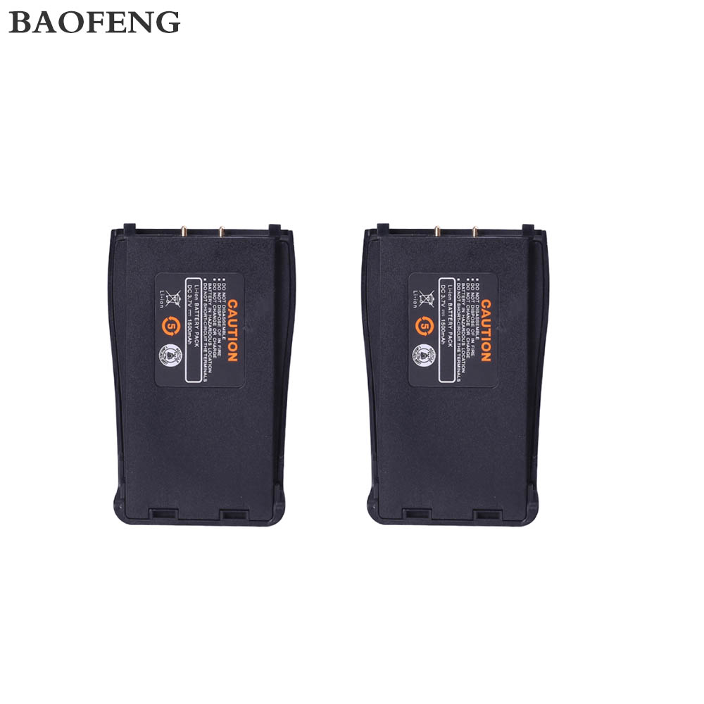2PCS Original 3.7V 1500mah Baofeng BF-888S Battery For Baofeng Two Way Radio Walkie Talkie Baofeng 888S Accessories