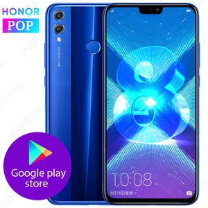 Image 1 - Oryginalny HONOR 8X telefon komórkowy 6.5 cala 6GB 128GB Kirin 710 Octa Core Android 9.0 3750mAh odcisk palca odblokuj sklep Google Play