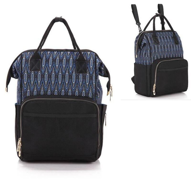 New Large-Capacity Mummy Bag Pregnant Women Diaper Children Travel Change Oxford Waterproof Backpack