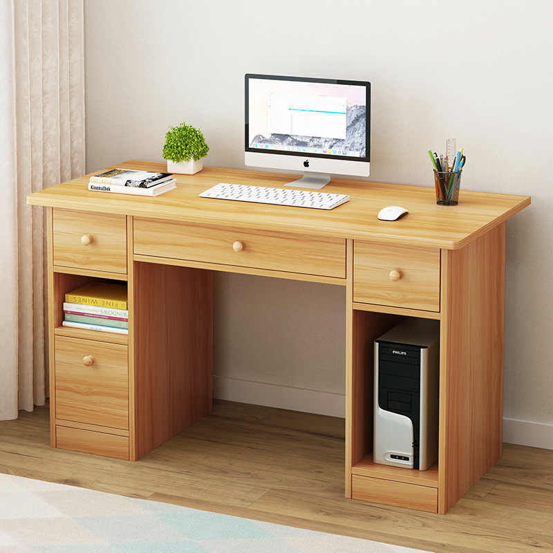 Home Desktop Computer Desk Simplicity Bookcase One Piece Students Doing Homework Single Person Small Table Bedroom Office D