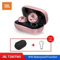 JBL T280 TWS In Ear Wireless Bluetooth V5.0 Earphone Sport IPX5 Waterproof Stereo Music Dynamic Earphone with Charge Box