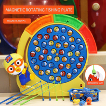 Children's Toy Magnetic Rotating Fishing Plate Toy Game Children's Fish Children's Education Parent Child Interaction Toy Gift