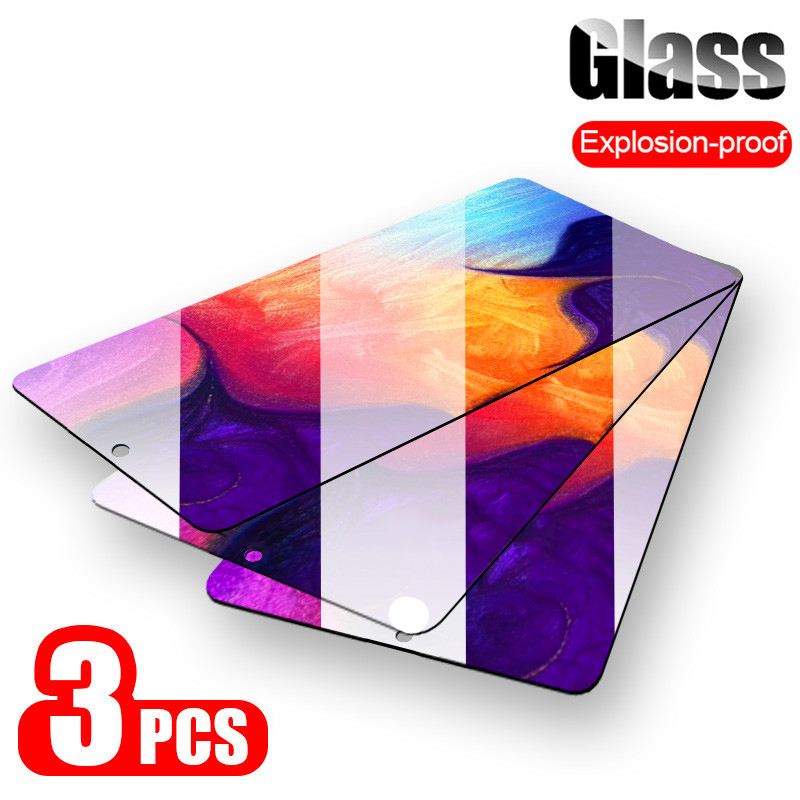 3Pcs Protective Glass For Samsung Galaxy A50 A30 A20 Screen Protector For Samsung M10 M20 M30 A40 A70 A10 A 50 70 Tempered Glass