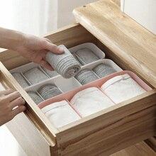 5 Grid Multi-Size Storage Boxes Bra Scarves Socks Underwear Organize Home Storage Box Non-Woven Clos