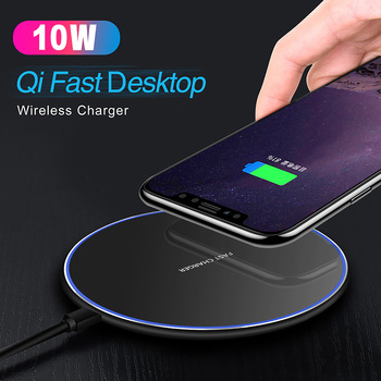 Baseuer 10W Wireless Charger LED Breathing Light Qi Fast Wireless Charging Pad For iPhone X XS 8 Samsung Huawei P30 Xiaomi 1