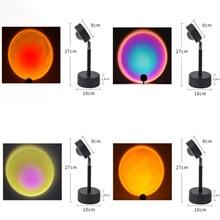 Lámpara LED de noche con proyector de arcoíris, luz de mesita de noche, Usb, regalo para el Día de San Valentín, dormitorio, Bar, café, atmósfera