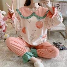 Женская одежда для сна хлопковый пуловер детей; Просторная модель