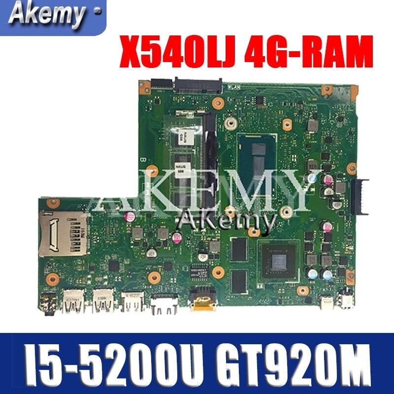New!!! Mianboard W/4G-RAM I5-5200U GT920M For ASUS X540L F540L X540LJ Laptop Motherboard REV2.1 Test Work 100%