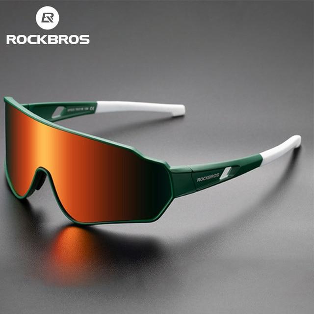 Rockbros bicicleta óculos de sol das mulheres dos homens photochromic polarizado de vidro ao ar livre uv400 esportes ciclismo óculos 1