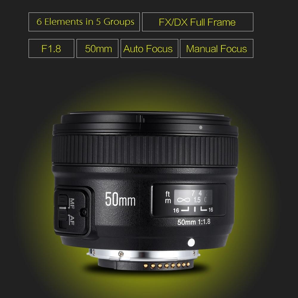 YONGNUO YN50mm F1.8 Большая диафрагма Авто фокус объектив для Canon Nikon D800 D300 D700 D3200 D3300 D5100 D5200 D5300 DSLR Объектив камеры