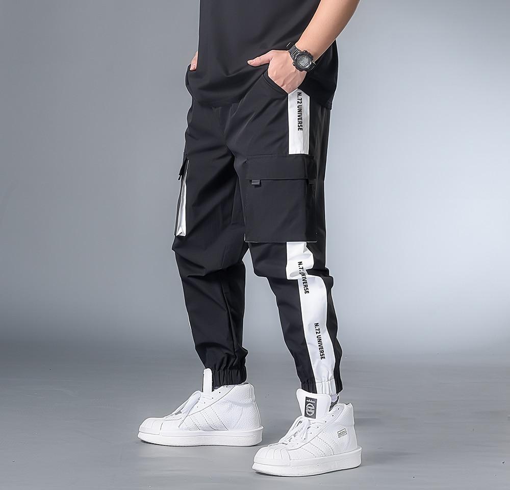 7XL 6XL XXXXL Man New Hip Hop 2020 Harajuku Joggers Streetwear Mens Pockets Harem Pants Male Summer Ankle-length Pants Oversize