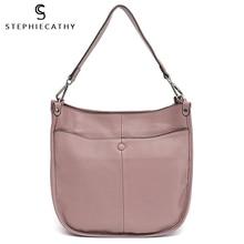 Shoulder-Bag Office Handbag Leather Hobo Pocket Female High-Quality Fashion Women Ladies