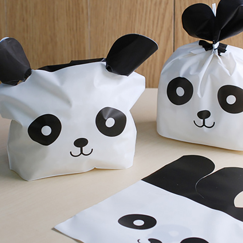 50Pcs Panda Cat Rabbit Ears Gift Bag Packaging Party Goodie Bags Packing Favor Cake Candy Cookie For Sweets Present Wedding