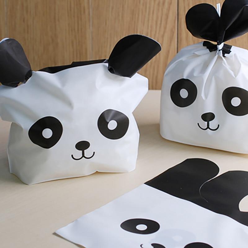 50Pcs Panda Katze Kaninchen Ohren Geschenk Tasche Verpackung Party Goodie Bags Verpackung Favor Kuchen Süßigkeiten Cookie Für Sweets Präsentieren hochzeit