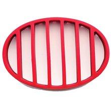 Красная овальная силиконовая стойка для жарки гриля подставка