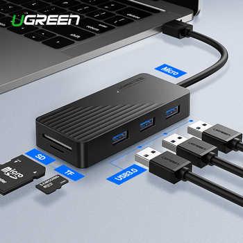 Ugreen 5-in-1 USB HUB with Card Reader 3 Port USB 3.0 HUB Splitter Micro USB Power Port for iMac Laptop Accessories USB HUB - DISCOUNT ITEM  25% OFF All Category
