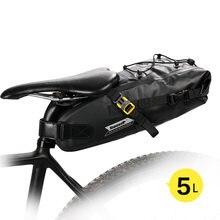Велосипедная водонепроницаемая сумка седло rhinowalk 5 л светоотражающая