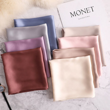 summer luxury brand silk scarf square women shawls and wraps fashion solider office small hair neck hijabs foulard