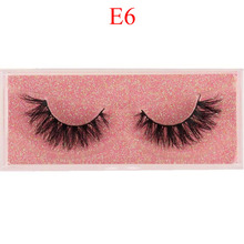 Mink eyelashes 100% cruelty free handmade 3D mink eyelashes full strip false false eyelashes makeup  eyelashes E11