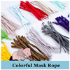 50/100pc Flat Mask Elastic Rope Rubber Band Ear Hanging Rope Adjustable Buckle Colorful Elastic Sewing Mask Cord Craft Accessory