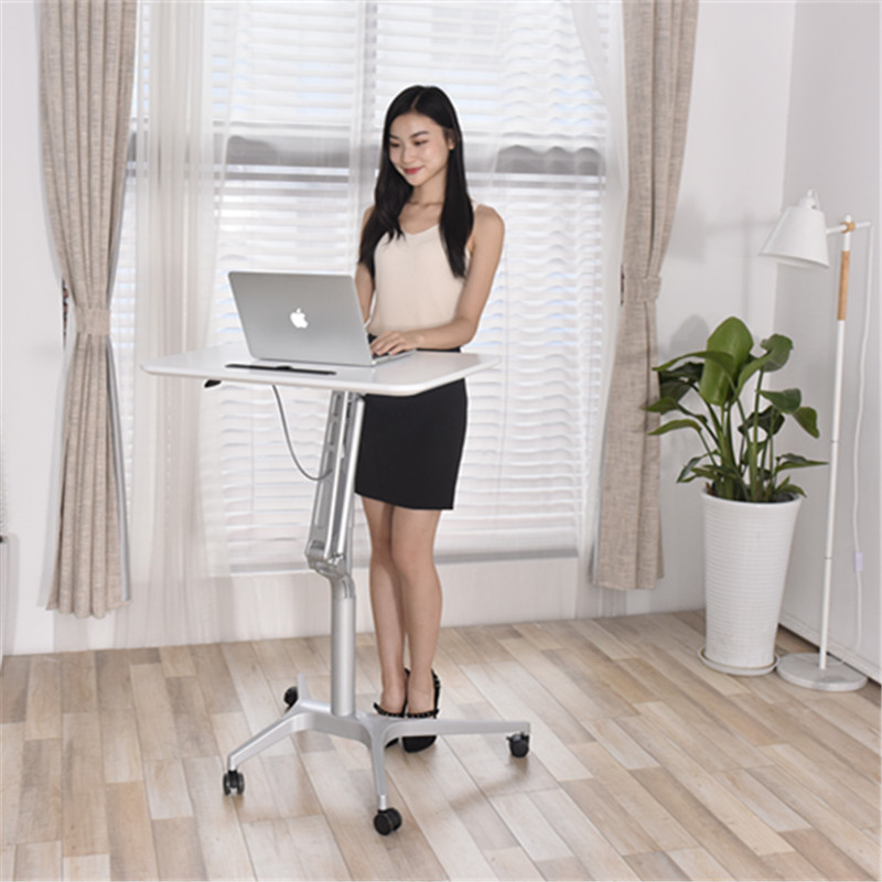 Stand-up Desk Bedside Lift Table Laptop Table Mobile Speech Workbench