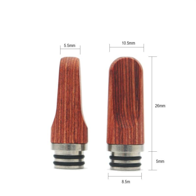Wooden 510 Drip Tip Long Metal Mouthpiece For 510 RDA RDTA Atomizer Electronic Cigarette Vape