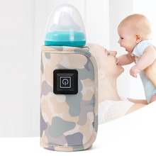 USB Baby Feeding Bottle Heated Cover Bottle Warmer Portable Travel Milk Warmer