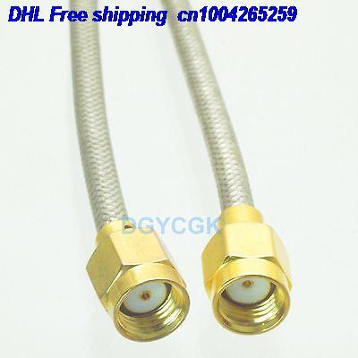 DHL 50pcs  RPSMA Male Jack To RPSMA Male Straight Semi-rigid Cable RG402 0.141