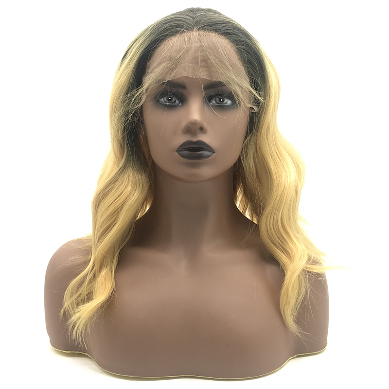 Ombre 2 tone Long Curly Wave Synthetic Wigs  Synthetic Wigs Fiber Female Wigs