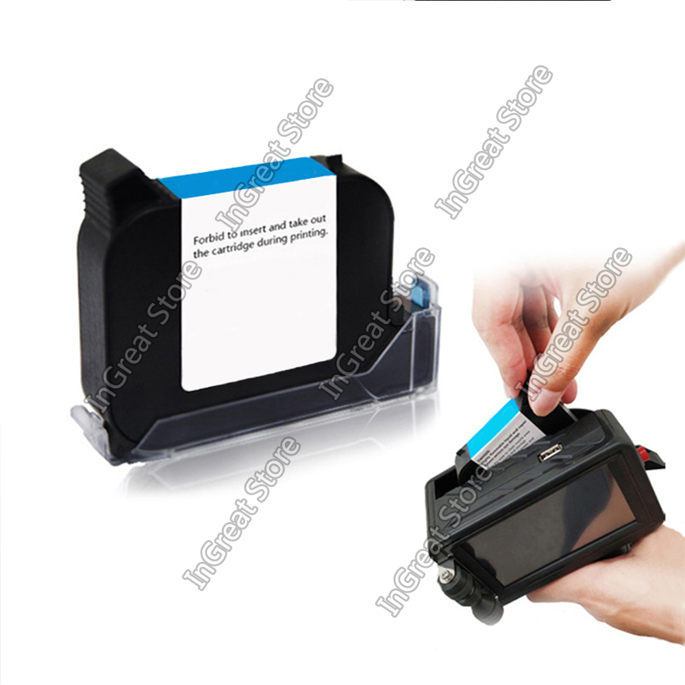 Black Solvent Ink Cartridge Or Water Based Ink Cartridge For Handheld Mini Printer QR Code Printer Ink Cartridges Quick-drying