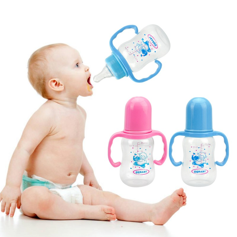 Baby Feeding Bottle Infant Product Sippy Cup Feeder Milk Water Baby Bottle With Handle Kids Cup For Infant 125ml