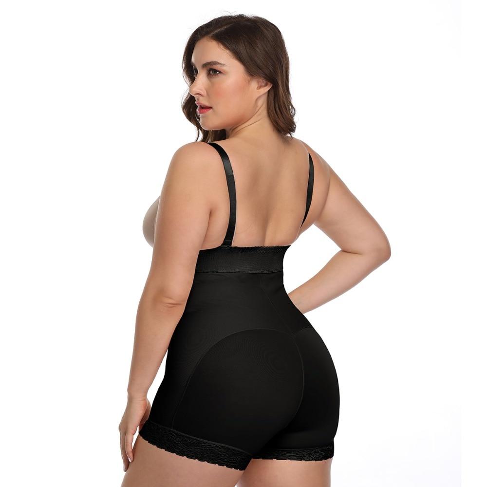 Women Open Crotch Underbust Corset Shapewear Bodysuit Tummy Slimming Sheath Control Pants Belly Corrective Underwear Beige S-6XL (15)