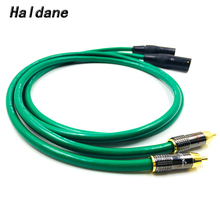 Haldane Pair Type-LITON RCA to XLR Balacned Audio Cable RCA Male to XLR Male Interconnect Cable with MCINTOSH USA-Cable free shipping qed signature ofc silver platedr interconnect cable with xlr male plug audio cable