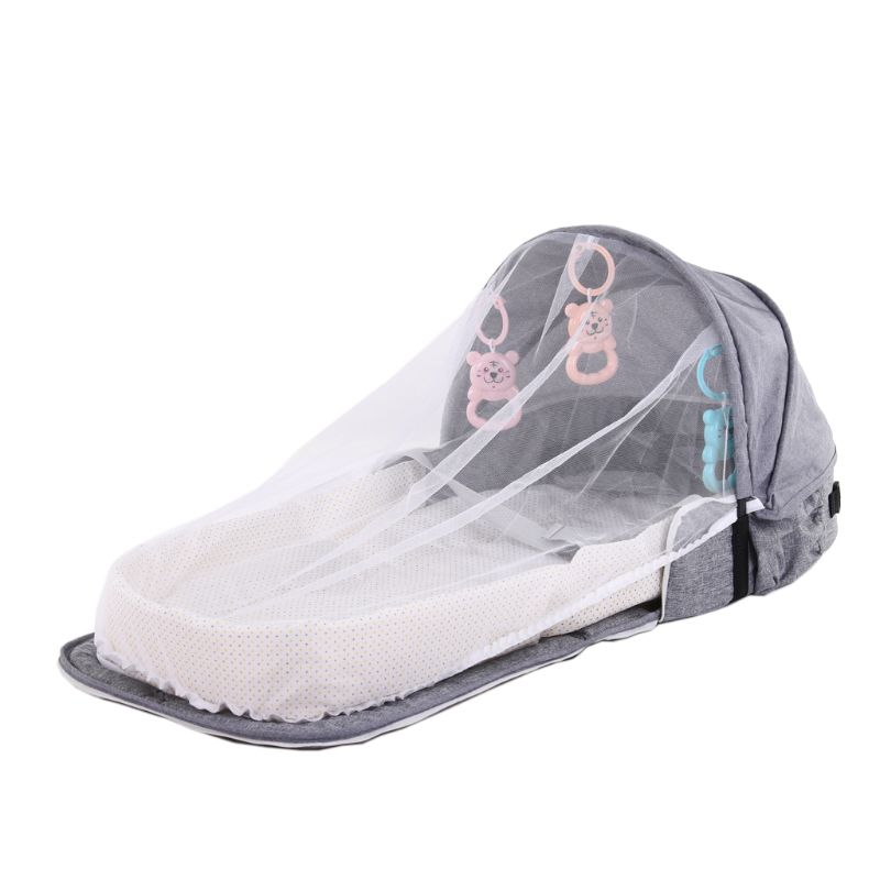 Baby Bed Travel Sun Protection Mosquito Net Foldable Infant Sleeping Basket DXAD