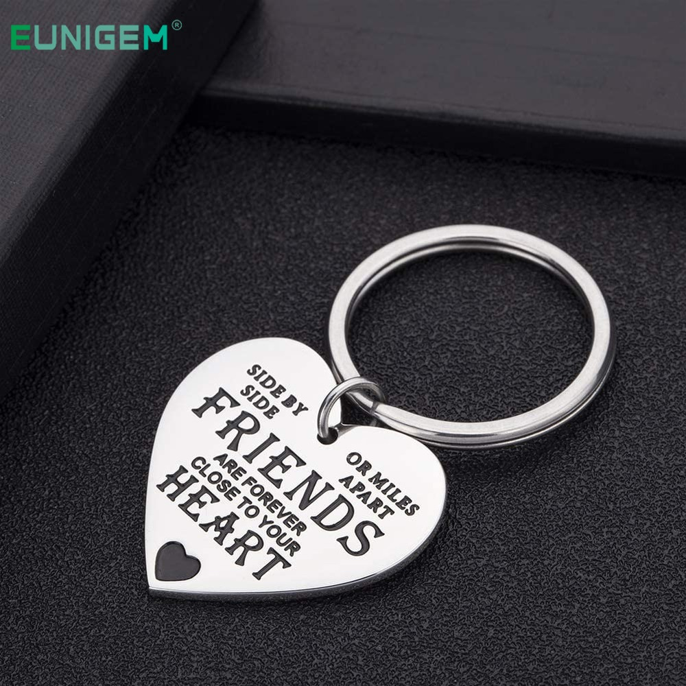 Best Friend Cute Keychain Friendship Gifts for Women Men Birthday Present for BFF Sisters Keyring Long Distance Gift(China)