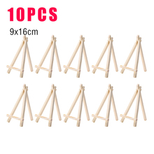 10pcs  9*16cm Mini Wooden Easel Stands Table Card Stand Holder Small Picture Display Stand for Home Party Wedding Decoration kicute wood artist easel wedding table number place name card photos stand display holder diy party table tools