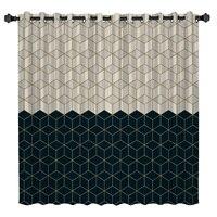 Modern Geometric Mesh Room Curtains Large Window Bathroom Kitchen Bedroom Indoor Drapes Decor Window Treatment Valances Window