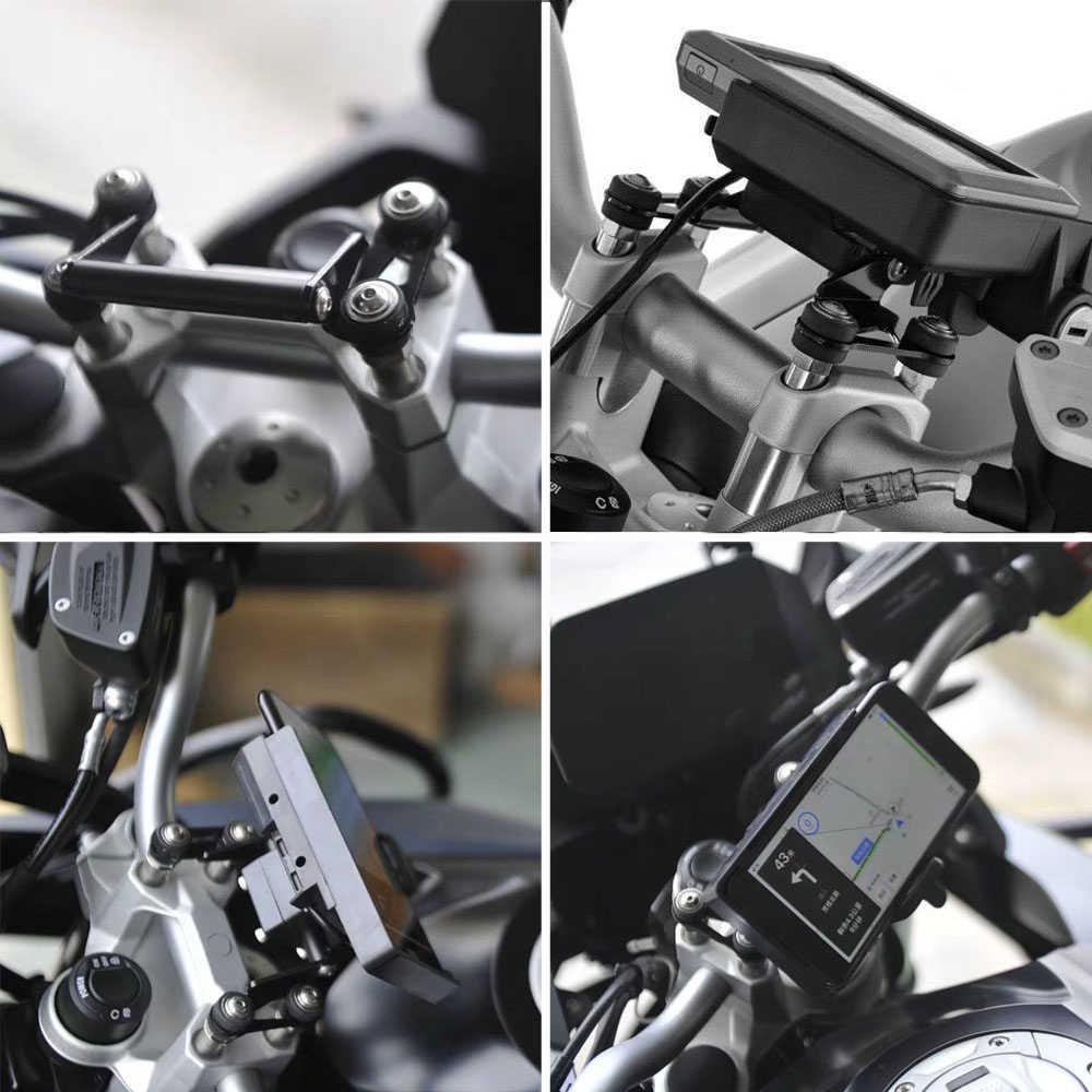 جديد وصول! ل BMW F750GS F850GS R1200RS R1200R دراجة نارية الملاحة قوس لوحة حامل هاتف حامل مع USB شحن