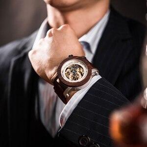 Image 2 - relogio masculino BOBO BIRD Watch Men Automatic Mechanical Watches Wood Vintage Big Size Mens Gift Wristwatch reloj hombre