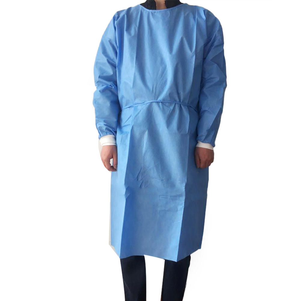 Unisex Disposable Protective Coverall Non Woven Drawstring Isolation Breathable Protection Suit Hazmat Suit рабочая одежда 4