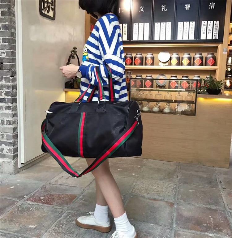 2019 New Big Range Webbing Large-Volume Lv Xing Bao Dai With Leather Leisure Bag Women's Men's Bag Versatile WOMEN'S Bag