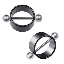2pcs Sexy Nipple Ring Piercing Stainless Steel Nipple Shield Barbell Breast Jewelry Silver Bar for Women Body Jewelry Gift 14G