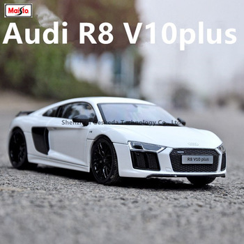 Maisto 1:18 Audi R8GT car alloy car model simulation car decoration collection gift toy Die casting model boy toy image