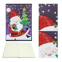 DIY Santa Claus Special Shaped Diamond Painting 60 Page A5 Notebook Notepad DIY painting Notebook school supplies for students concise a5 spiral binding 60 page notepad coil notebook stationery office school supplies