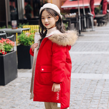 2019 Winter Down Jacket For Girls Hooded Thicken Warm Girls Winter Coat Parka For Girls Children Outerwear Snowsuit Children's