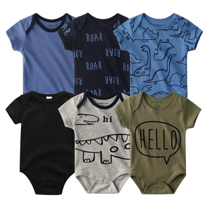 Image 5 - 2020 Newest 6PCS/lot Baby Girl Clothe Roupa de bebes Baby Boy Clothes Unicorn Baby Clothing Sets Rompers Newborn Cotton 0 12M