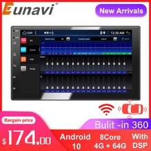 "Eunavi DSP 2 Din Android 10รถวิทยุเครื่องเล่นมัลติมีเดียสำหรับรถยนต์7 ""HD Universal Auto สเตอริโอ GPS นำทาง audioVideo เครื่องเล่น BT"
