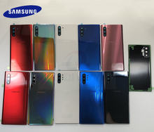 Original Glass For Samsung Note 10 Plus N975 Note 10 N970 N970F Note10+ Back Battery Cover Door Rear Housing Case Replacement
