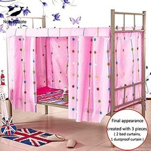 Students Dormitory Bunk Bed Curtains Mosquito Net Dustproof Blackout Cloth Bed Canopy Tent Curtain Removeable Shading Nets Dorm
