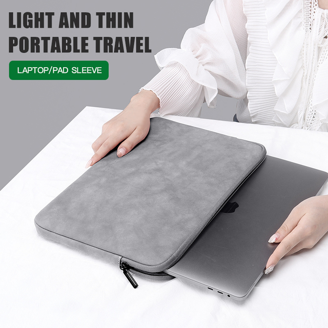Laptop Sleeve Case 13 14 15.4 15.6 Inch For HP DELL Notebook bag Carrying Bag Macbook Air Pro 13.3 Shockproof Case for Men Women 6